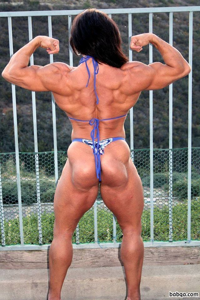 spicy chick with muscle body and muscle bottom post from facebook
