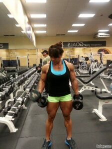 hot chick with muscular body and muscle ass photo from reddit
