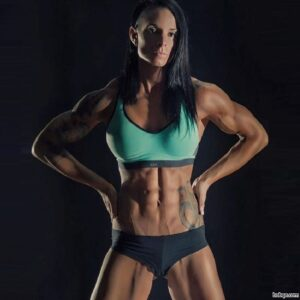 awesome female with muscle body and muscle legs pic from facebook