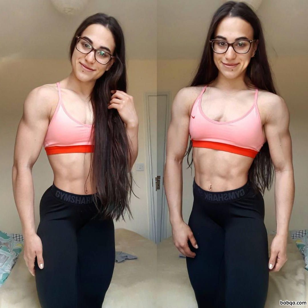 beautiful babe with muscle body and toned booty repost from facebook