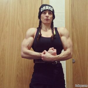 sexy female bodybuilder with strong body and toned legs picture from tumblr
