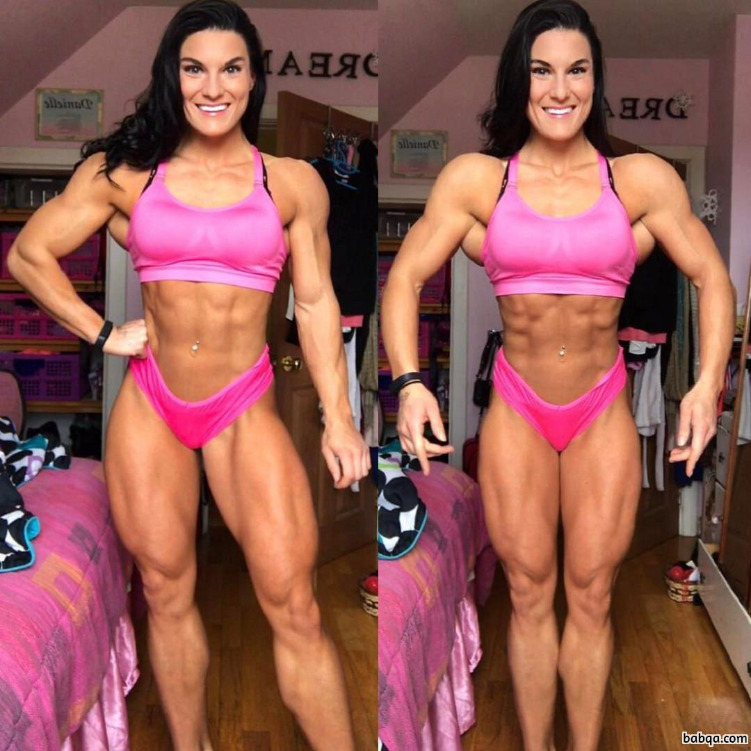 hot chick with muscular body and toned arms repost from reddit