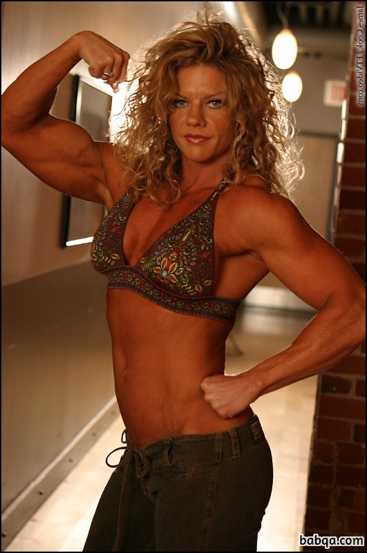 sexy female with fitness body and muscle arms image from flickr
