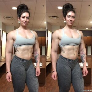 awesome female bodybuilder with muscle body and toned bottom repost from facebook