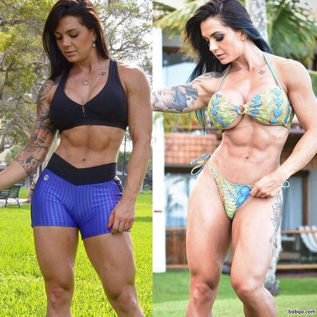 awesome lady with strong body and toned arms post from reddit