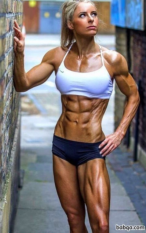 hot female with fitness body and toned legs pic from reddit