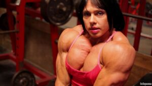 perfect girl with strong body and muscle arms picture from g+