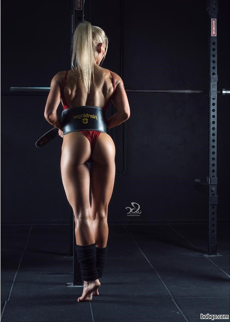 beautiful chick with muscular body and toned biceps image from facebook