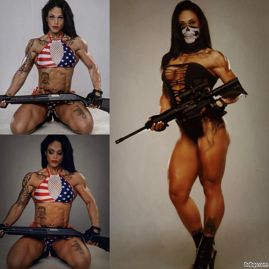 hottest female bodybuilder with fitness body and toned bottom pic from instagram
