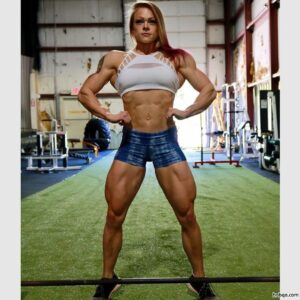perfect female with strong body and muscle ass image from facebook