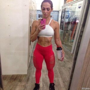 hottest female with muscle body and muscle biceps image from facebook