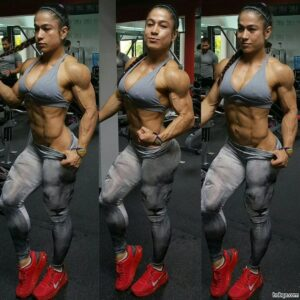 beautiful chick with strong body and muscle arms picture from reddit