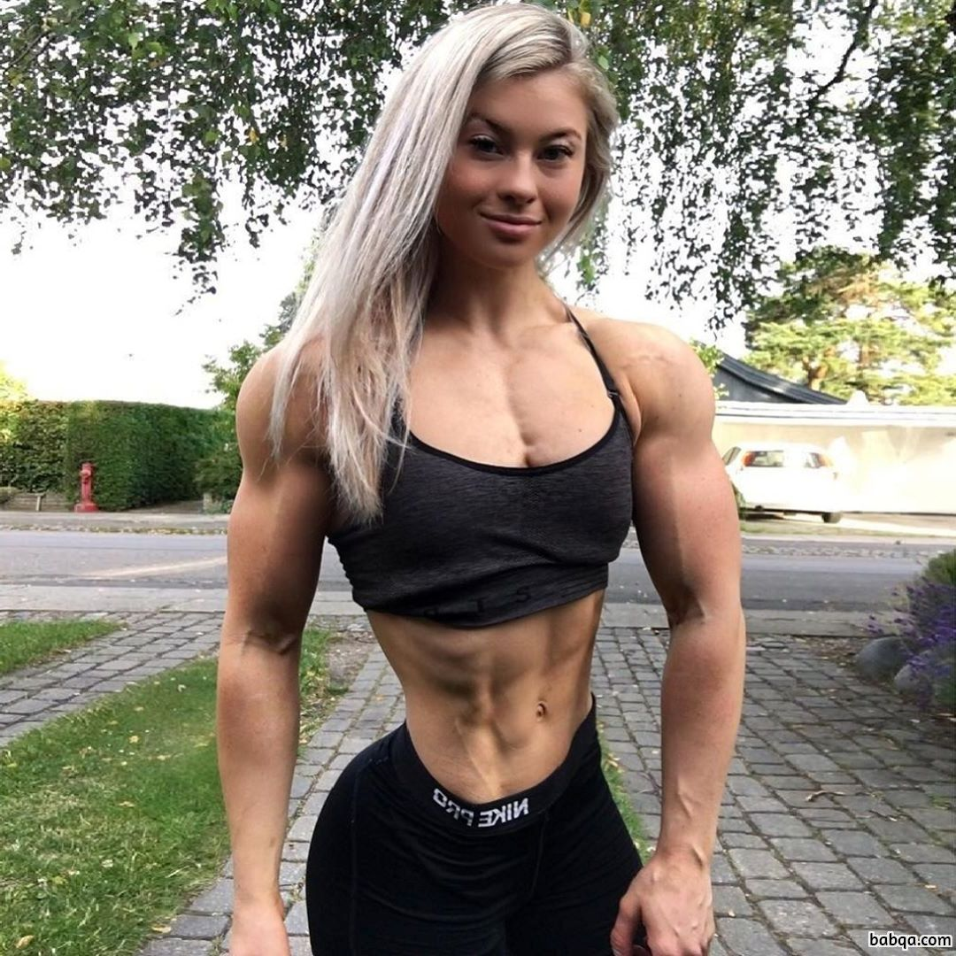 hot female with muscle body and muscle bottom post from flickr