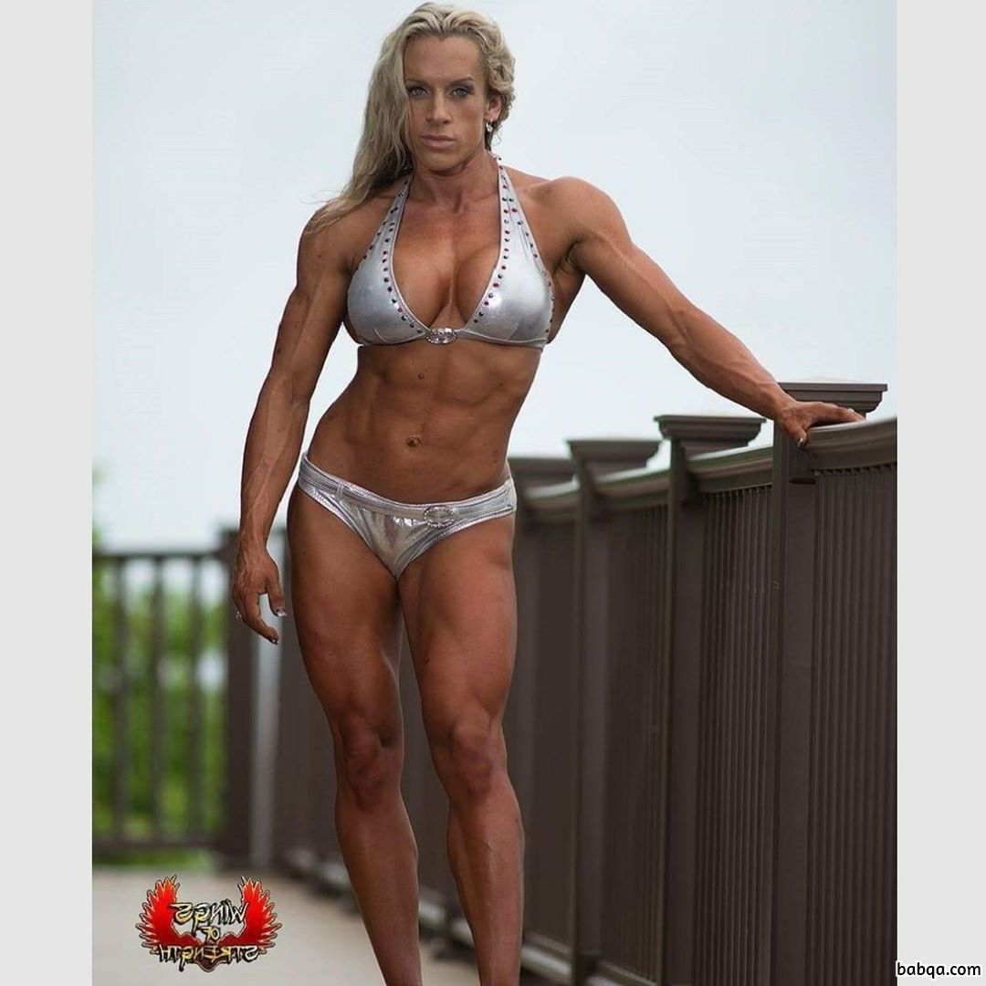 hottest female bodybuilder with fitness body and muscle arms post from g+
