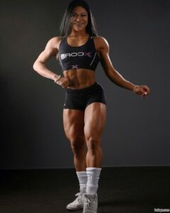 cute female bodybuilder with muscular body and muscle biceps pic from flickr