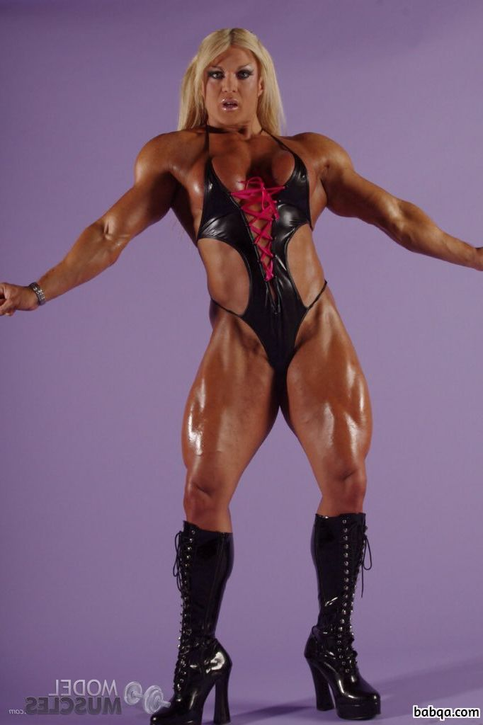 hottest female bodybuilder with muscular body and muscle booty photo from linkedin