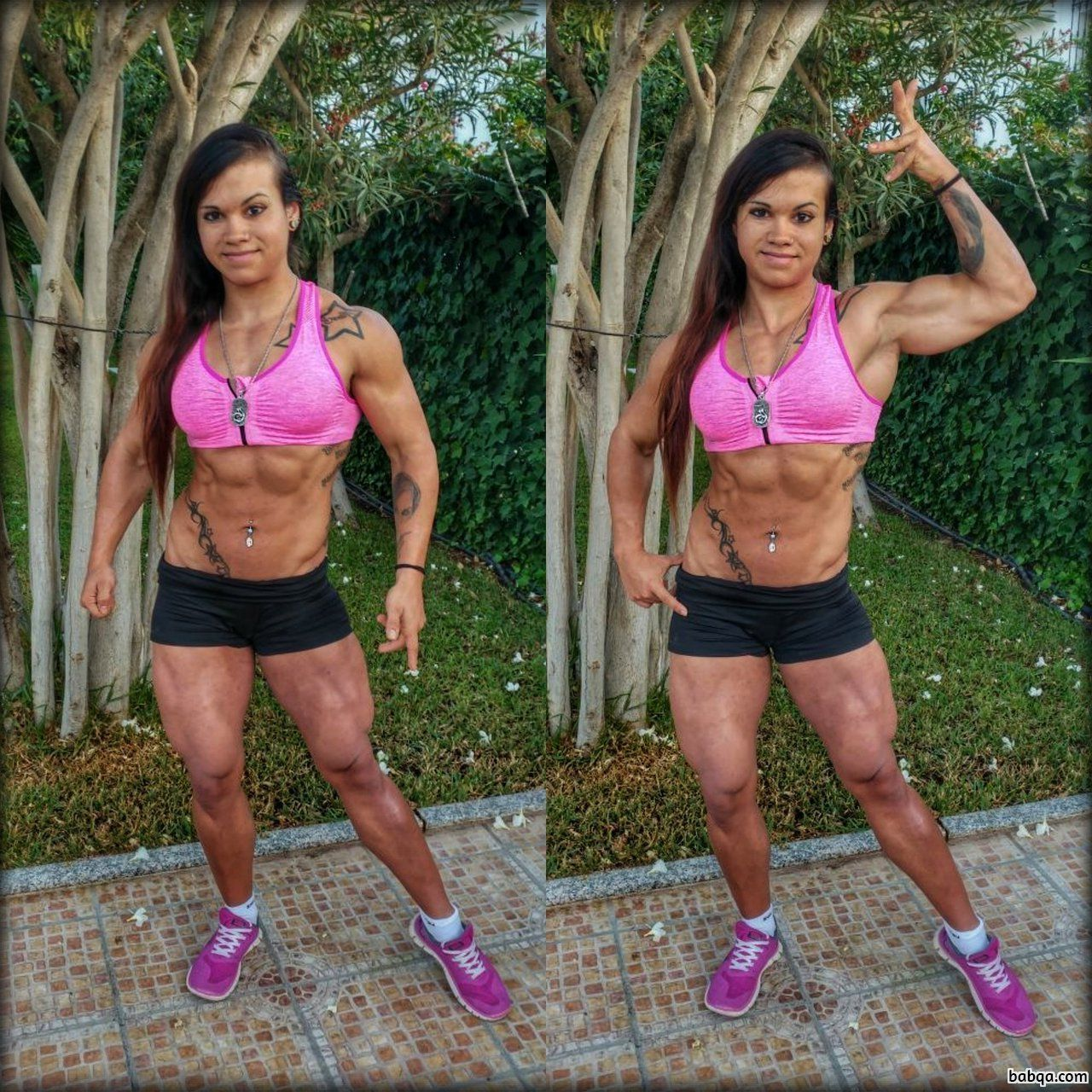 hot female with fitness body and toned legs image from tumblr