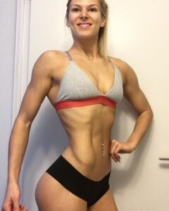 spicy girl with strong body and muscle bottom post from instagram