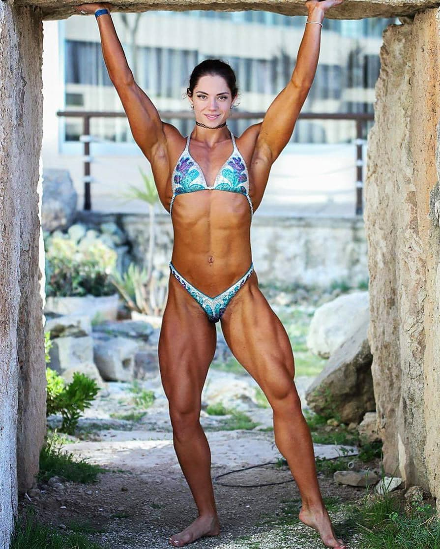 awesome lady with muscle body and toned legs post from instagram