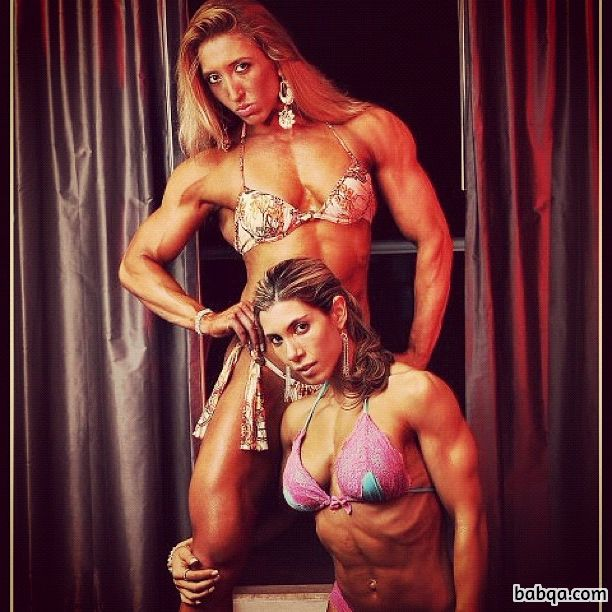 hottest female bodybuilder with fitness body and toned biceps post from facebook