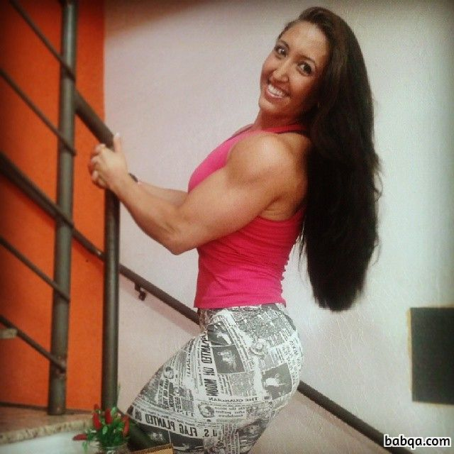 hot woman with muscle body and toned legs image from instagram