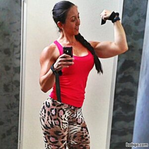 awesome female bodybuilder with strong body and muscle arms post from flickr