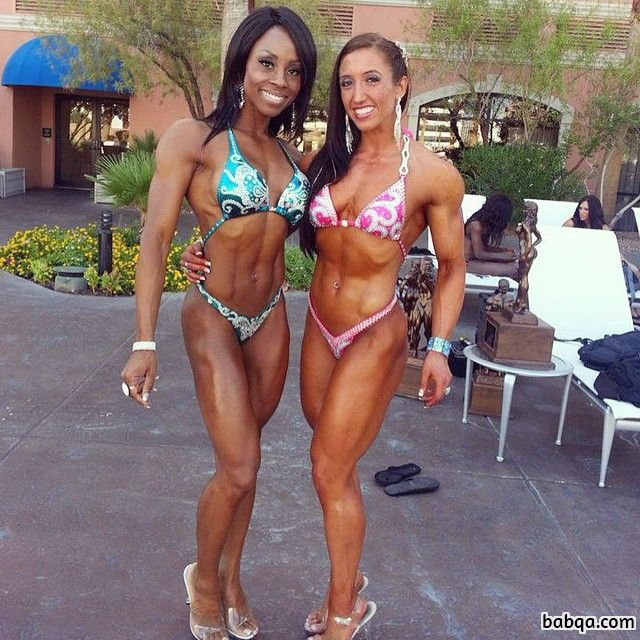 hottest woman with muscular body and muscle biceps picture from linkedin