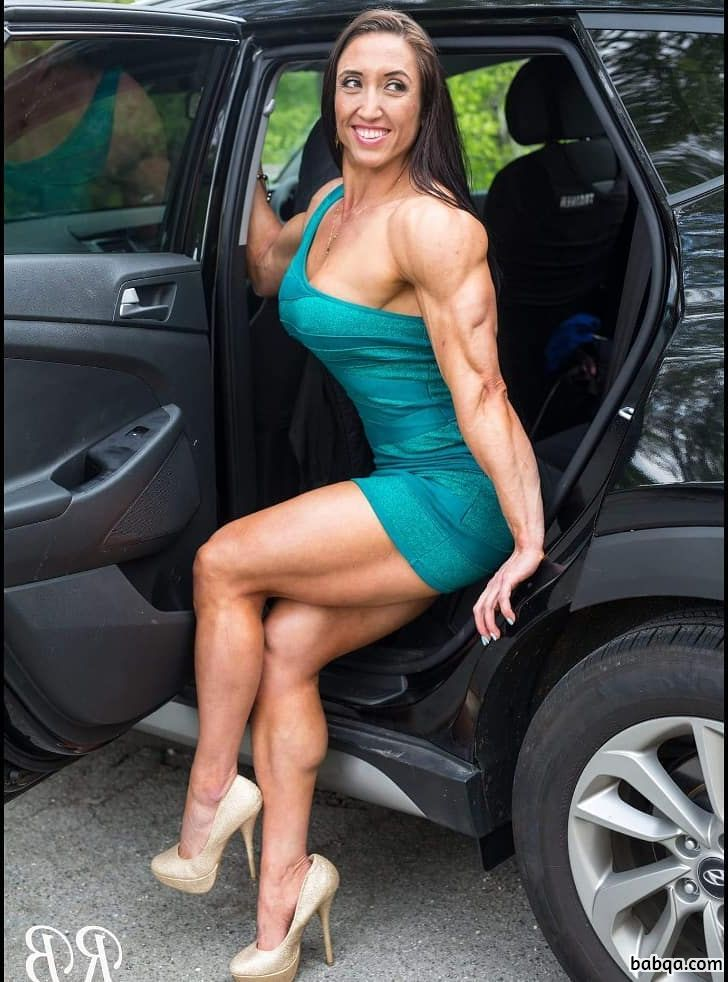 sexy girl with muscle body and toned booty photo from reddit