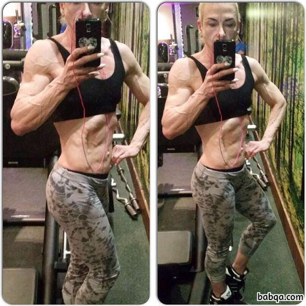 hottest female with strong body and muscle biceps picture from reddit