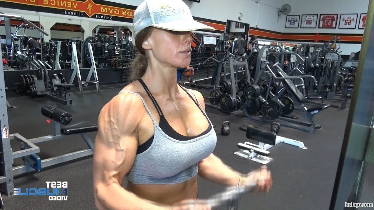 spicy babe with muscle body and toned arms photo from insta