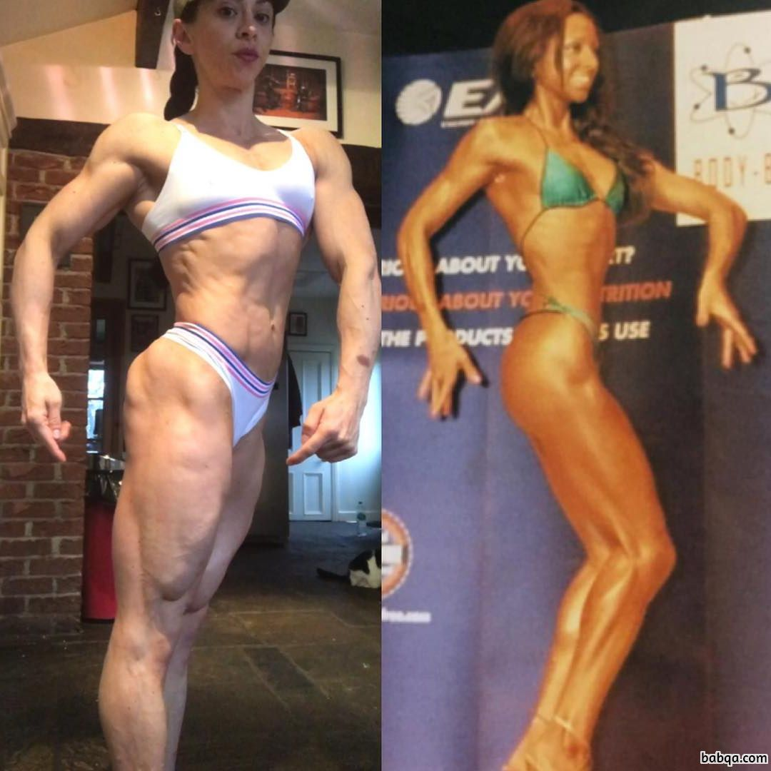 perfect chick with muscular body and toned legs post from reddit