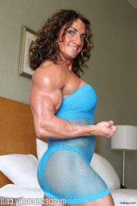 awesome chick with fitness body and muscle biceps image from linkedin