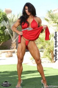 sexy female bodybuilder with muscle body and toned bottom post from g+