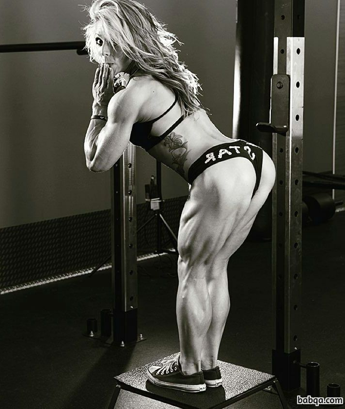perfect female bodybuilder with strong body and muscle biceps photo from g+