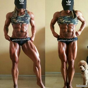 beautiful female bodybuilder with muscle body and toned ass image from tumblr