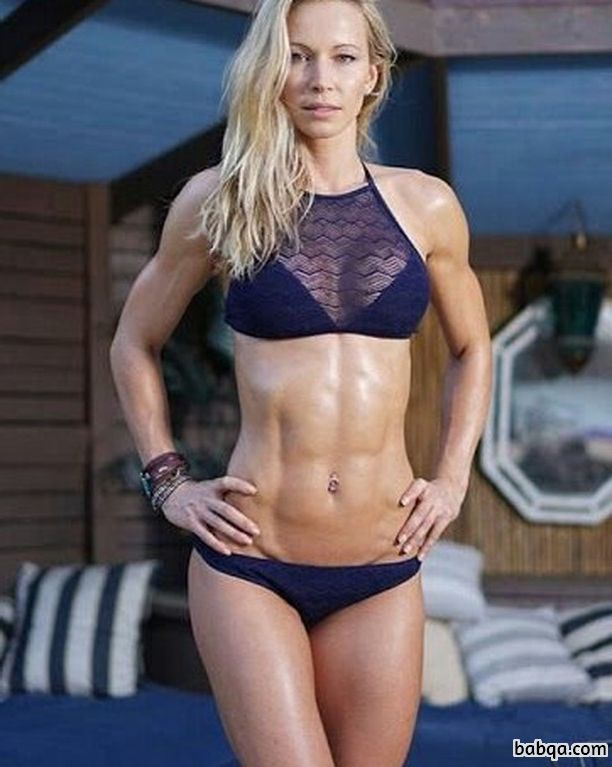 sexy female bodybuilder with muscular body and toned bottom pic from facebook