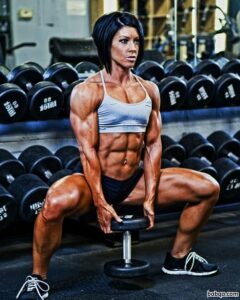 perfect girl with strong body and muscle biceps post from flickr
