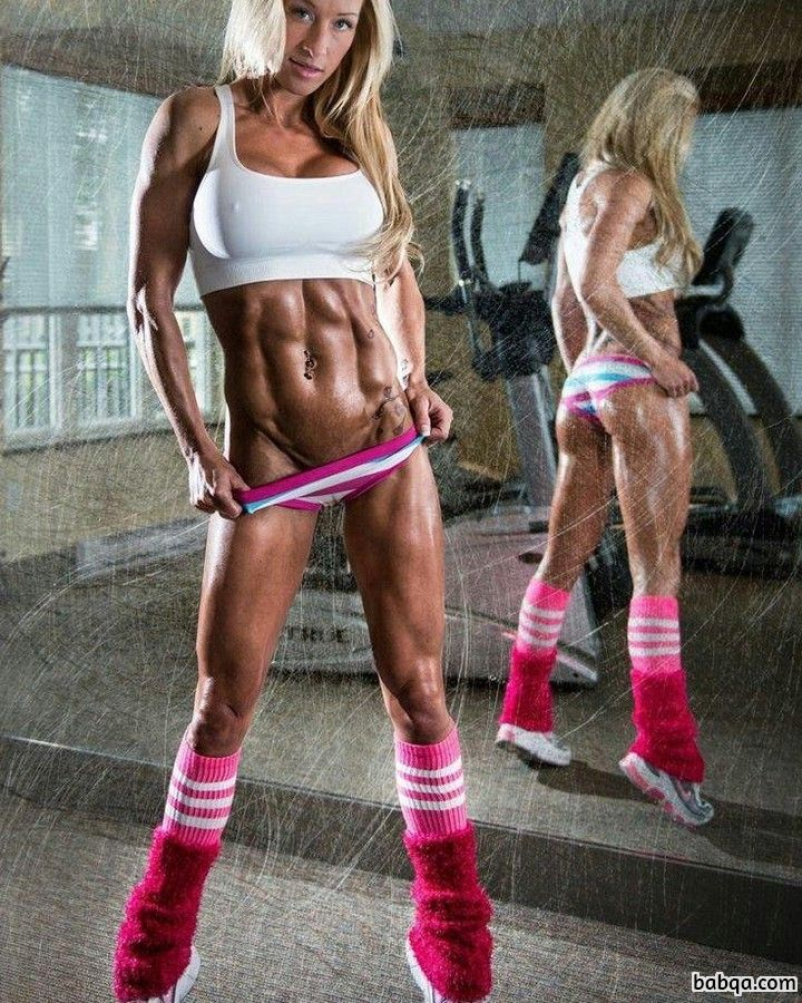 beautiful babe with muscle body and muscle arms photo from tumblr
