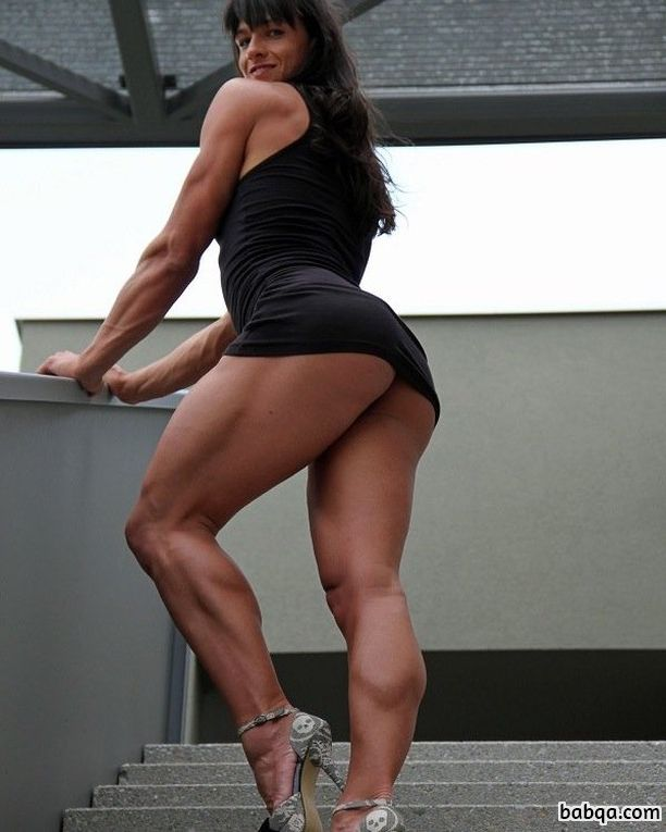 sexy female bodybuilder with strong body and toned booty pic from tumblr