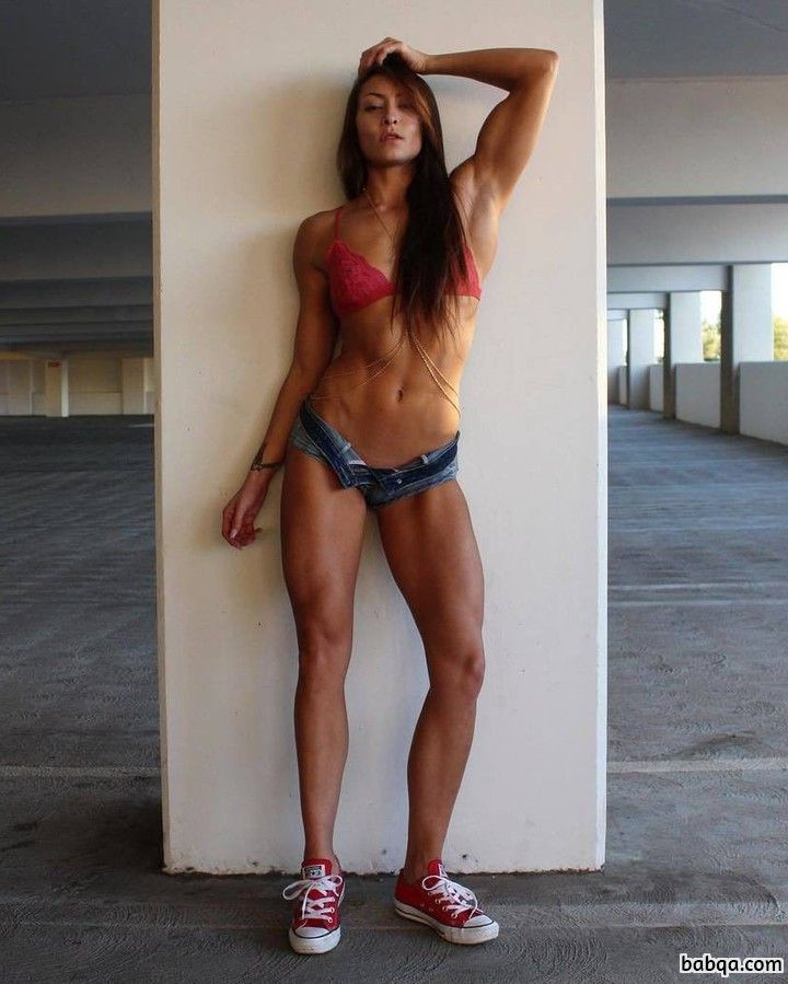 perfect female with fitness body and toned bottom repost from g+
