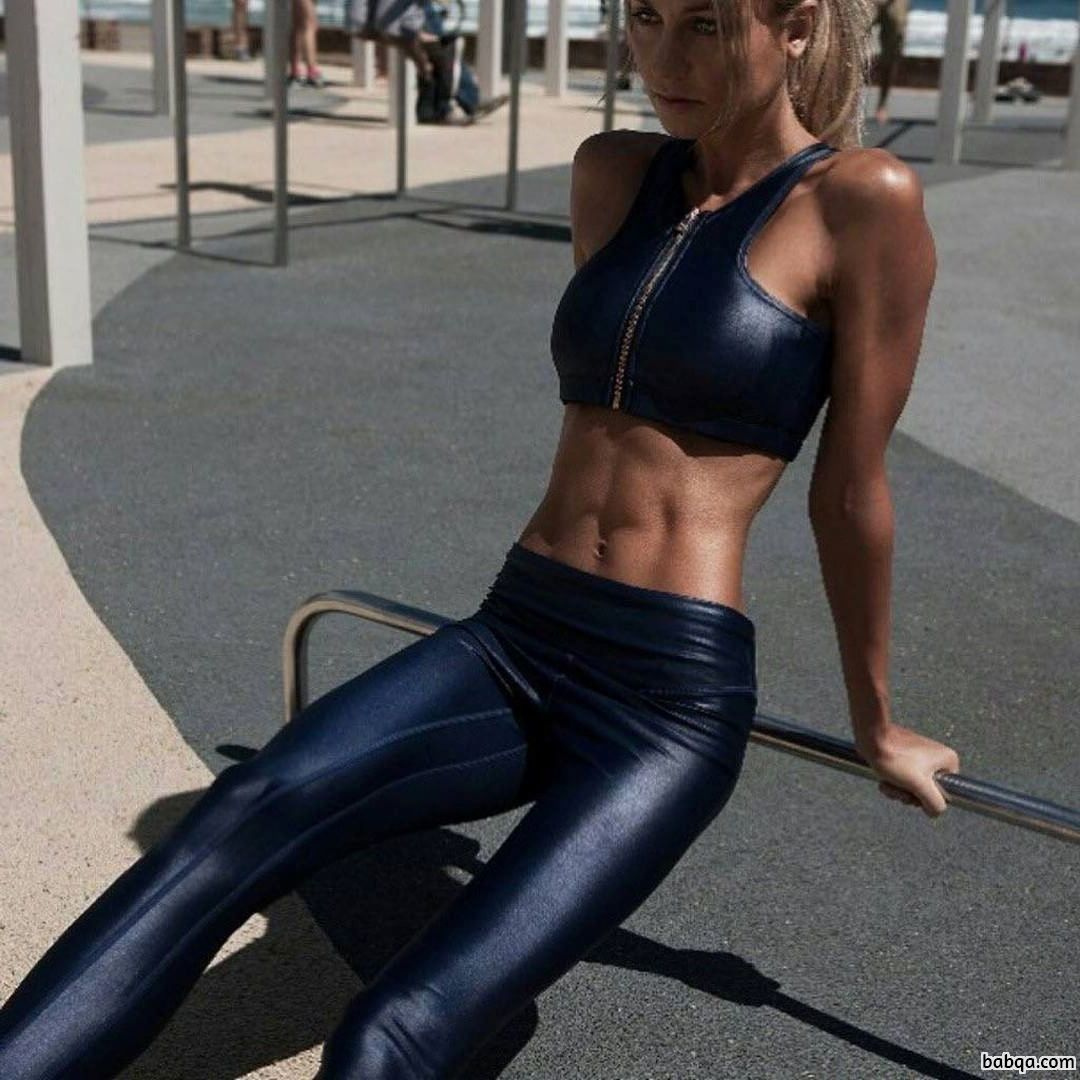spicy lady with strong body and muscle legs photo from reddit