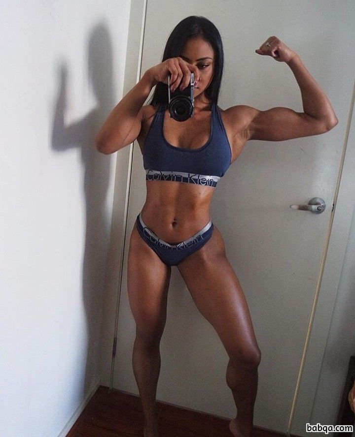 perfect female with muscle body and toned legs repost from flickr