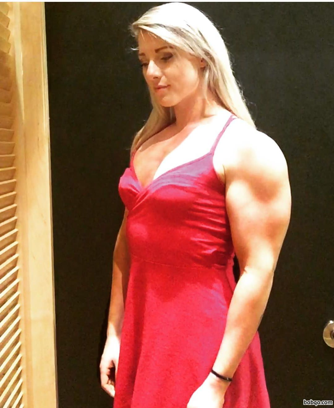 awesome female bodybuilder with fitness body and muscle arms photo from reddit