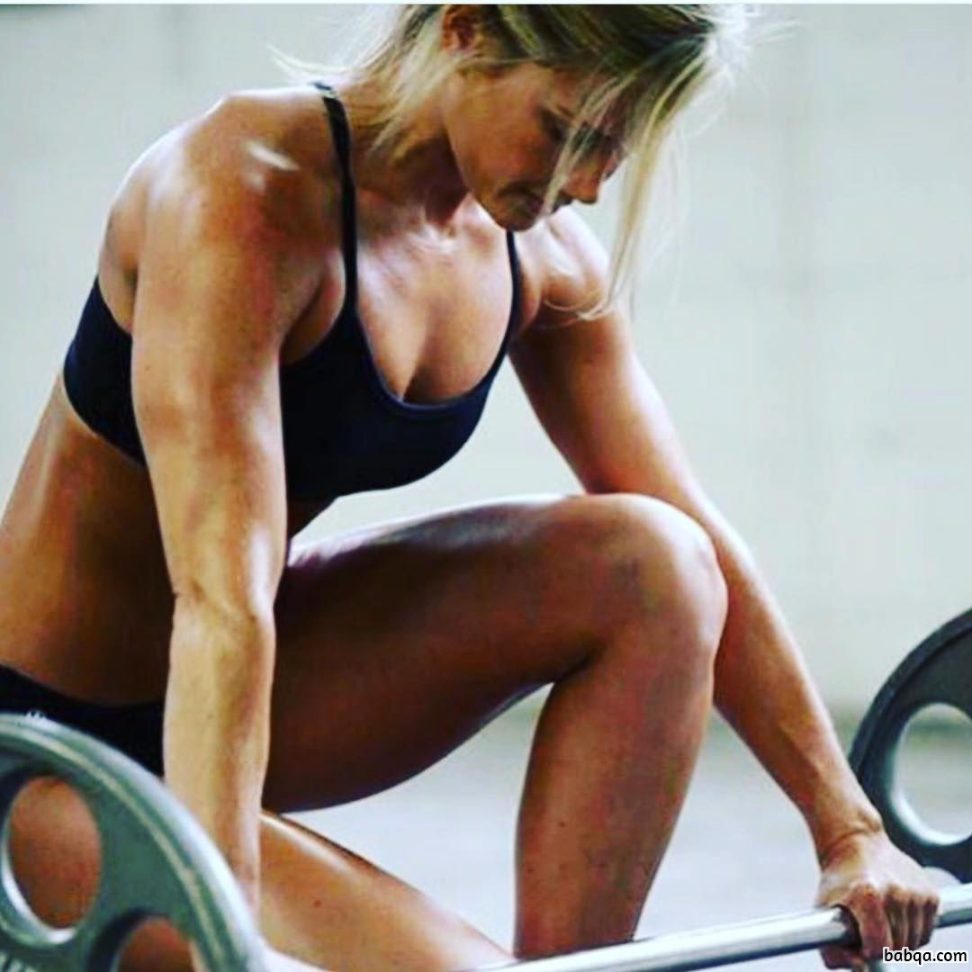 cute woman with muscle body and muscle legs image from flickr