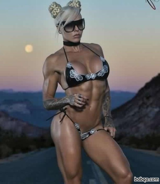 sexy female bodybuilder with fitness body and muscle booty image from linkedin