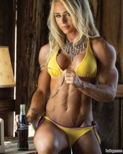awesome female with fitness body and muscle legs image from g+