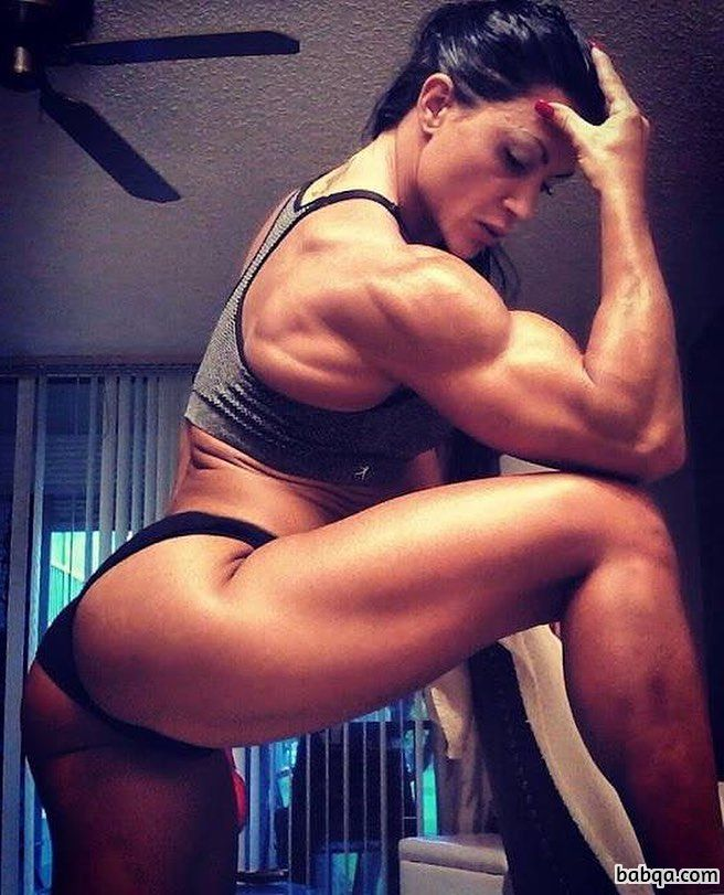 beautiful girl with strong body and muscle bottom repost from instagram