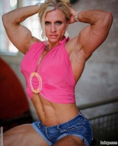 hottest female with muscular body and toned bottom image from linkedin