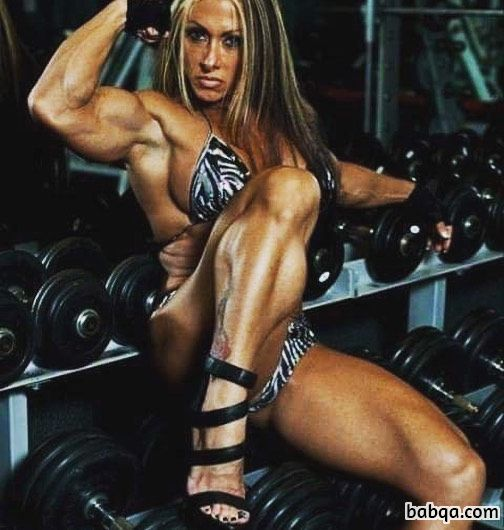 awesome lady with muscle body and muscle biceps picture from linkedin
