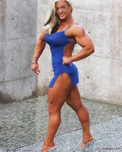 awesome woman with strong body and muscle ass post from facebook